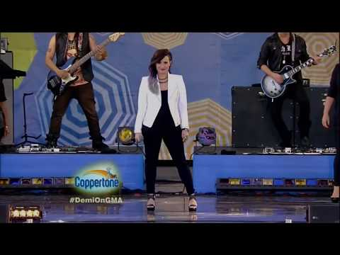Demi Lovato ft. Cher Lloyd - Really Don't Care  @ Good Morning America - 06-06-14