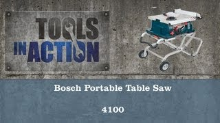 Bosch Portable Table Saw 4100 - Review