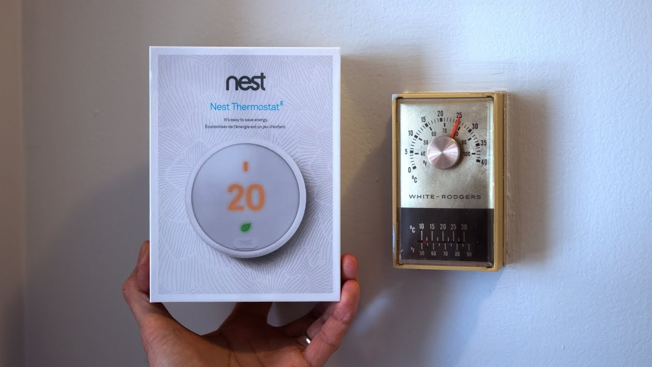 nest thermostat e install replacing old 2 wire thermostat youtube rh youtube com
