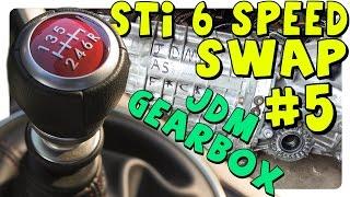 my03 jdm v7 sti transmission   jdm v7 sti 6 speed swap 5