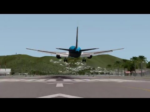 landing a 767-300 10,000 lbs over MTOW at St.Maarten [X-Plane10]