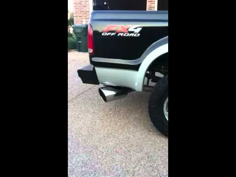 5 Inch Exhaust Pipe >> 06 powerstroke 6.0, straight pipe into 8 inch tip - YouTube