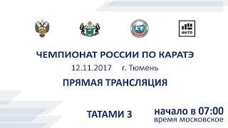 Чемпионат России по Каратэ 2017 татами 3 (12.11.2017)