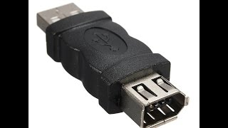 Firewire IEEE 1394 6 Pin Female To USB 2.0 Male Adapter Converter NOT Working