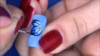 Easy one stroke butterfly nail art tutorial(This one is perfect for beginners! ^_^ used Polycolor acrylics. here is tutorial with nail polish http://www.youtube.com/watch?v=yUr46t5O4GE., 2011-05-14T15:00:32.000Z)
