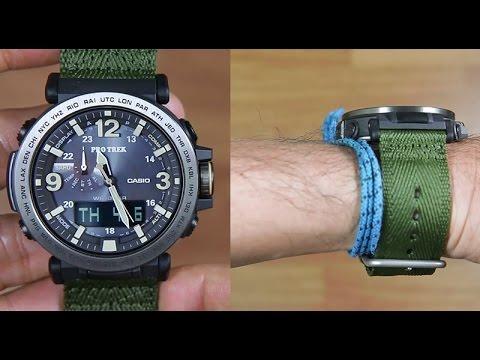 c39e7b560 CASIO PROTREK TRIPLE SENSOR PRG-600YB-3 CLOTH BAND - UNBOXING - YouTube