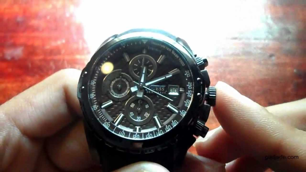 757f1a595 Guess Watch Guide on How To Adjust Time & Use Stopwatch (W17540G2 50m Water  Resistant) - YouTube