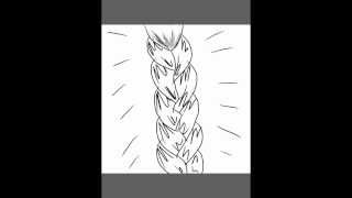 Micro Tutorial: how to draw braided hair