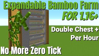 Minecraft Bamboo Farm for Minecraft 1.16: ZERO TICK IS DEAD - Double Chest+ p/Hour (Avomance 2020)