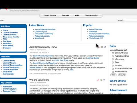 Joomla 1.5 Beginner, Lesson #16: The Blog Menu