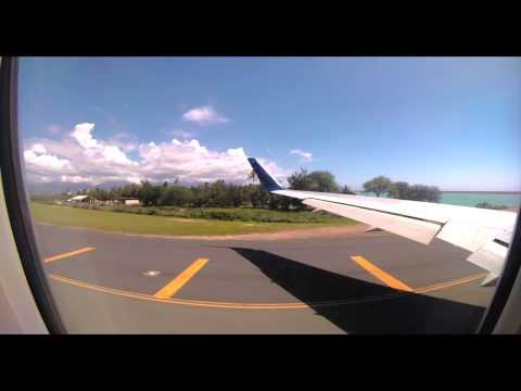 GoPro Hero 3+ - Honolulu International Airport - HNL Hawaii - Taxi Takeoff - 4K Resolution