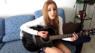 ★★Cool girl singing with a guitar! very beautiful song !★★  Очень красивая песня !