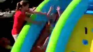Little Tikes Rocky Mountain River Race And Slam 'n Curve Slide