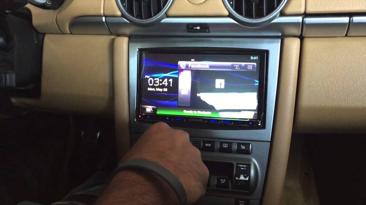 hight resolution of  07 porsche cayman kenwood radio gps xm radio install youtube