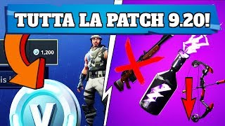 PATCH NOTES 9.20 FORTNITE! ARRIVANO THE RESALS! NEW MAJOR SUPAt THE STORM! (FORTNITE SEASON 9