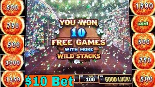 ★ BIG WIN ! ★ ULTIMATE FIRE LINK Slot Machine $10 Max Bet Bonus HUGE WIN | Live Slot Play