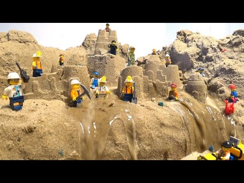 LEGO DAM BREACH AND NEW SAND CASTLE COLLAPSE