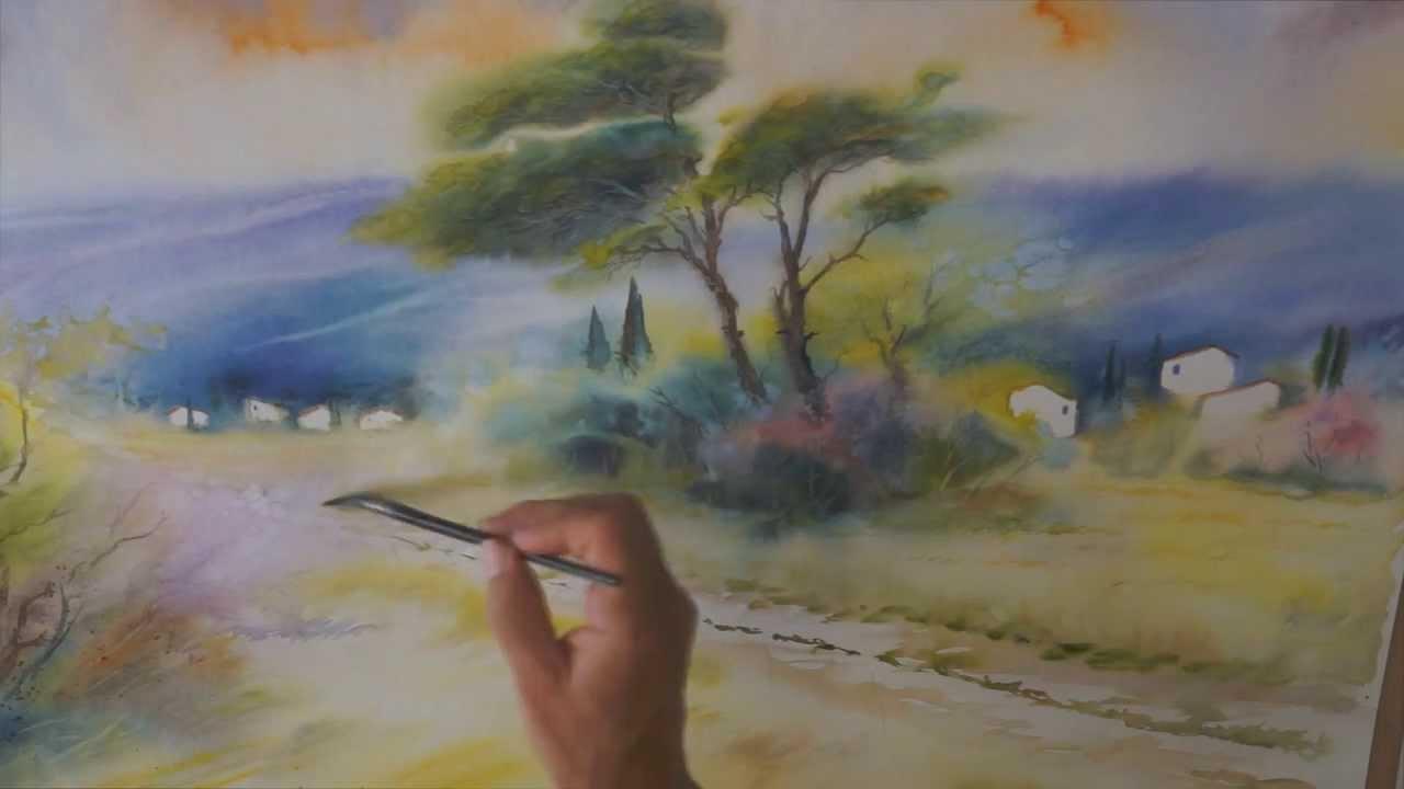 Bien connu Demo aquarelle en mouillé sur mouillé (wet on wet watercolor  JX61