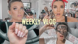 WEEKLY VLOG ♡ Makeup Lessons 🎨 Nails 💅🏼 New Makeup💄 Clients 😍 Jasmine Hand