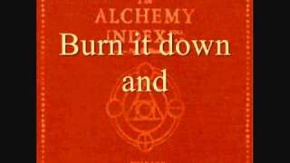 Thrice - The Arsonist (lyrics)