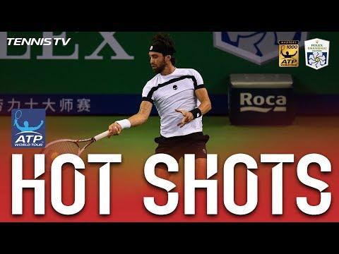 Hot Shot: Basilashvili Fends Off Del Potro Tweener, Lob Shanghai 2017