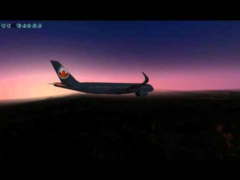 Airbus 350-900, Calgary to San Jose Costa Rica, X-Plane 10,45r1, Part3