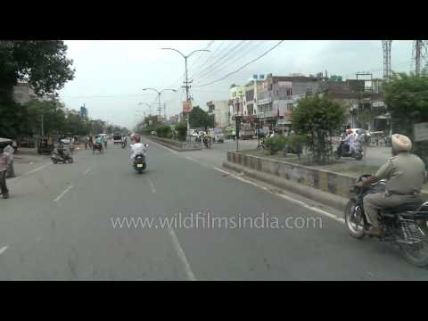 Living on the edge - people, traffic and the road near Wagah border, India