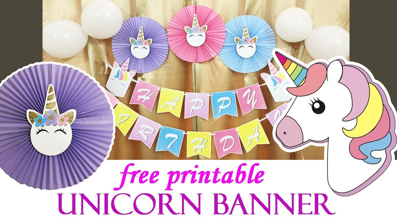 graphic about Free Printable Unicorn referred to as No cost Printable Unicorn Banner Unicorn Birthday Banner Unicorn birthday elements