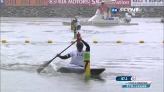 2014仁川亞運  輕艇曲道標竿 男子C1金牌賽 (2014 Asian Games - Canoe Obstacle Slalom, Men's C1 Slalom Final)