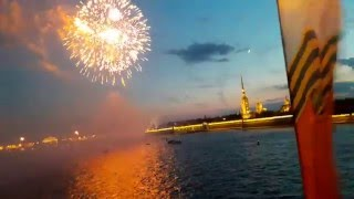 9 мая 2016 салют Победы Санкт-Петербург(FullHD) Аireworks in the capital  St. peterbrug