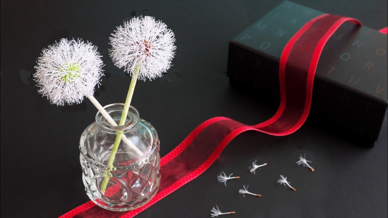 【制作過程】紙で作るタンポポの綿毛 - [Making Process] Dandelion Fluff Made From Paper