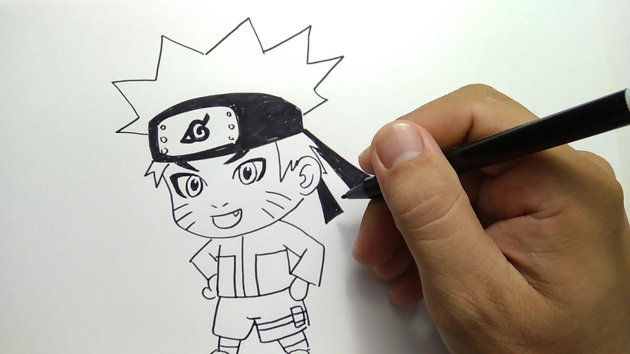 cara menggambar chibi Naruto / how to draw chibi naruto - YouTube