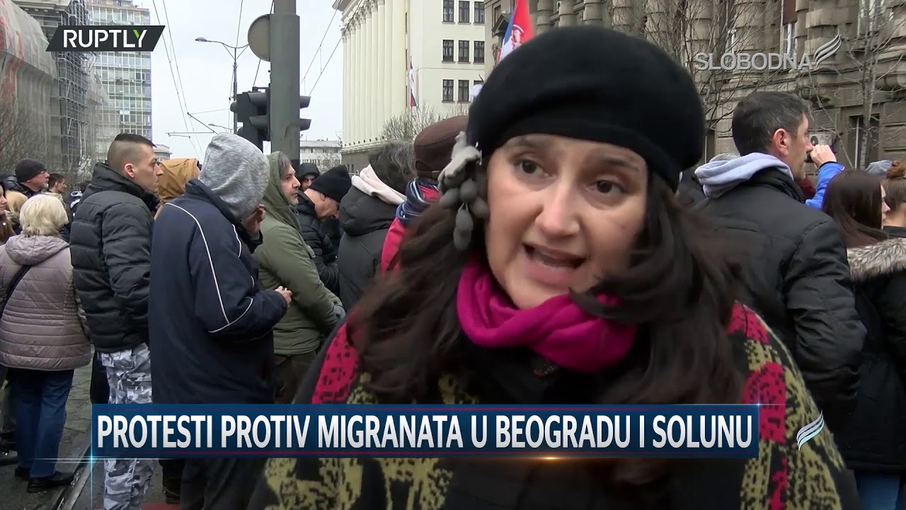 Protesti protiv migranata u Beogradu i Solunu (Pravi Dnevnik 9. mart 2020.)
