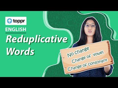 Class 5 English : English Vocabulary & Grammar | Reduplicative Words ( CBSE  / NCERT)