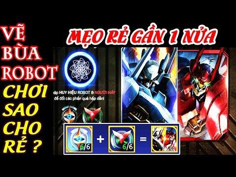 VẼ BÙA ROBOT - Nhận Lữ Bố Tư Lệnh Robot và Maloch Đại Tướng Robot - Vẽ bùa liên quân - Wind Dancer
