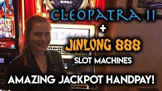 OMG! AMAZING JACKPOT HANDPAY on FREEPLAY! Jin Long Slot Machine!