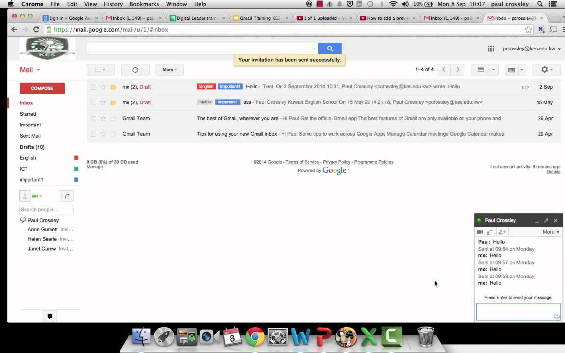 How to do a Google Hangout in Gmail