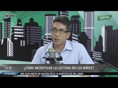 Entrevista a Ángel Heredia en Capital TV sobre incentivar a niños en la lectura