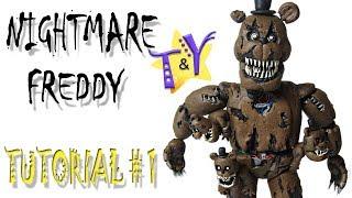 Как слепить Кошмарного Фредди из пластилина Туториал 1 Nightmare Freddy from clay Tutorial 1