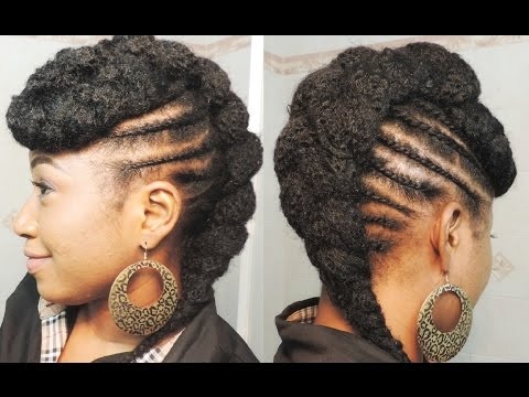 How To Two Strands Flat Twist Mohawk On Short 4c Natural Hair