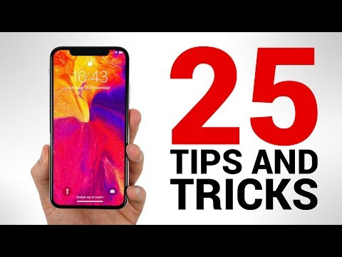iPhone X - 25 TIPS & TRICKS You NEED to KNOW!
