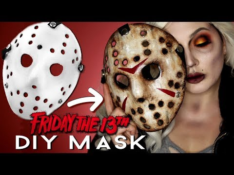 DIY JASON MASK FRIDAY THE 13TH HALLOWEEN COSTUME MAKEUP TUTORIAL