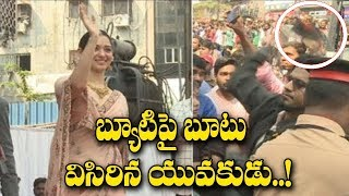 Fan Throws His Shoe On Tamanna At Malabar Showroom Launch | Celebrities Updates | 70MM Telugu Movie