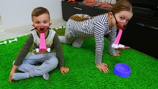Sofia si Alex S-au Transformat in CATEI! FETCH Challenge Intre Alexunea TV si Sofia Show RO