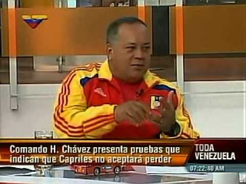 Entrevista a Diosdado Cabello en Dando y Dando (2/2): Capriles desconocerá resultados