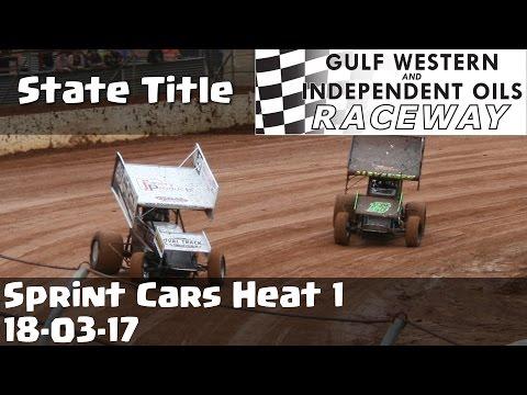 Sprint Cars State Title Heat 1 - Latrobe Speedway 18-03-17