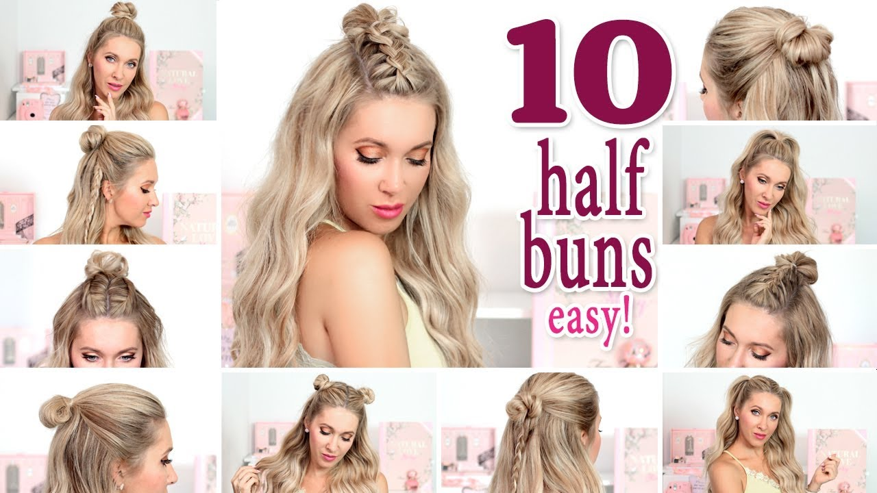 10 Messy Half Buns For Back To School Everyday Party