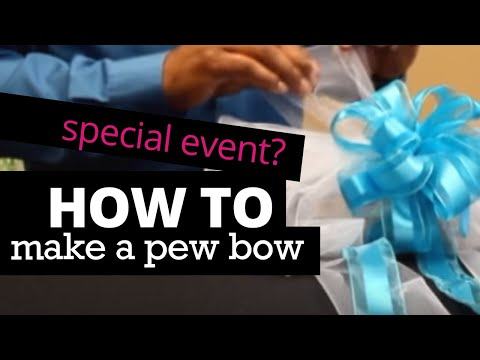 How To Make A Pew Bow Nashville Wraps