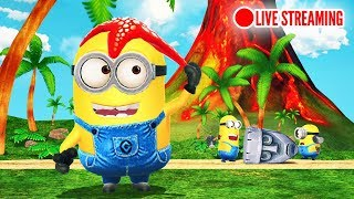 Minion Rush The Volcano Level 111 - 119: Starfish Minion try hard in Jungle [Live]