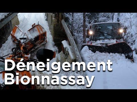 Déneigement chasse neige village de Bionnassay Saint-Gervais Mont-Blanc travaux montagne - 11704